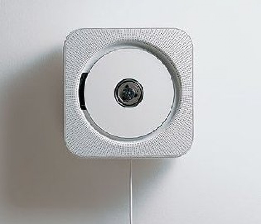muji wall mounted cd cd r player with fm radio cdp 4 japan new f s ebay. Black Bedroom Furniture Sets. Home Design Ideas