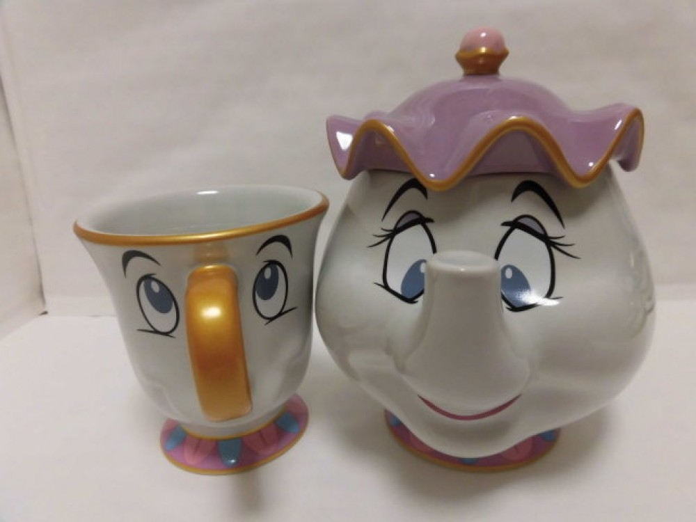 Potts Mug Cup Tokyo Disney Limited Authentic JAPAN Beauty and The Beast Mrs