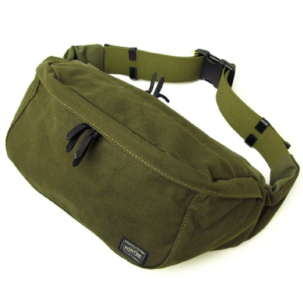 New YOSHIDA PORTER BEAT WAIST BAG L 727-09048 Green With tracking From Japan