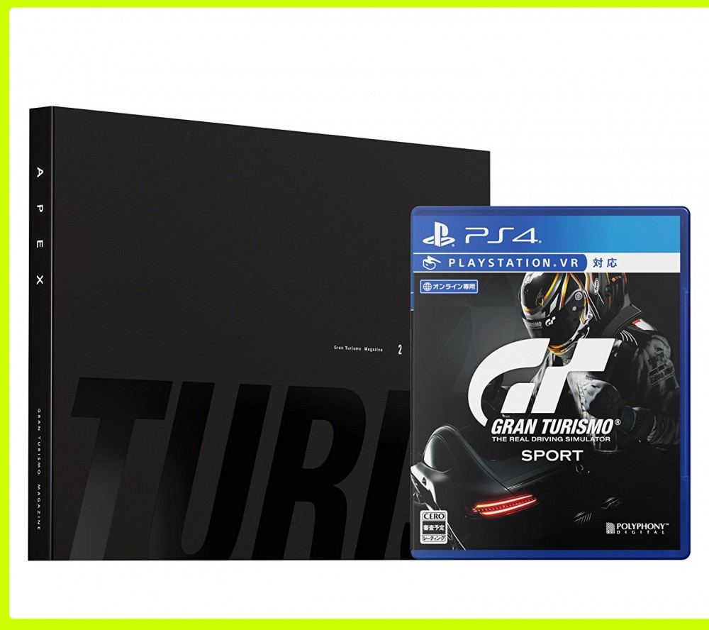 ps4 gran turismo sport game soft limited edition code from japan ebay. Black Bedroom Furniture Sets. Home Design Ideas