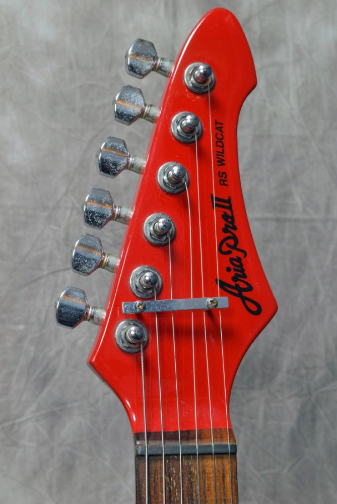 aria pro ii rs wildcat red electric guitar w soft case made in japan is154 ebay. Black Bedroom Furniture Sets. Home Design Ideas