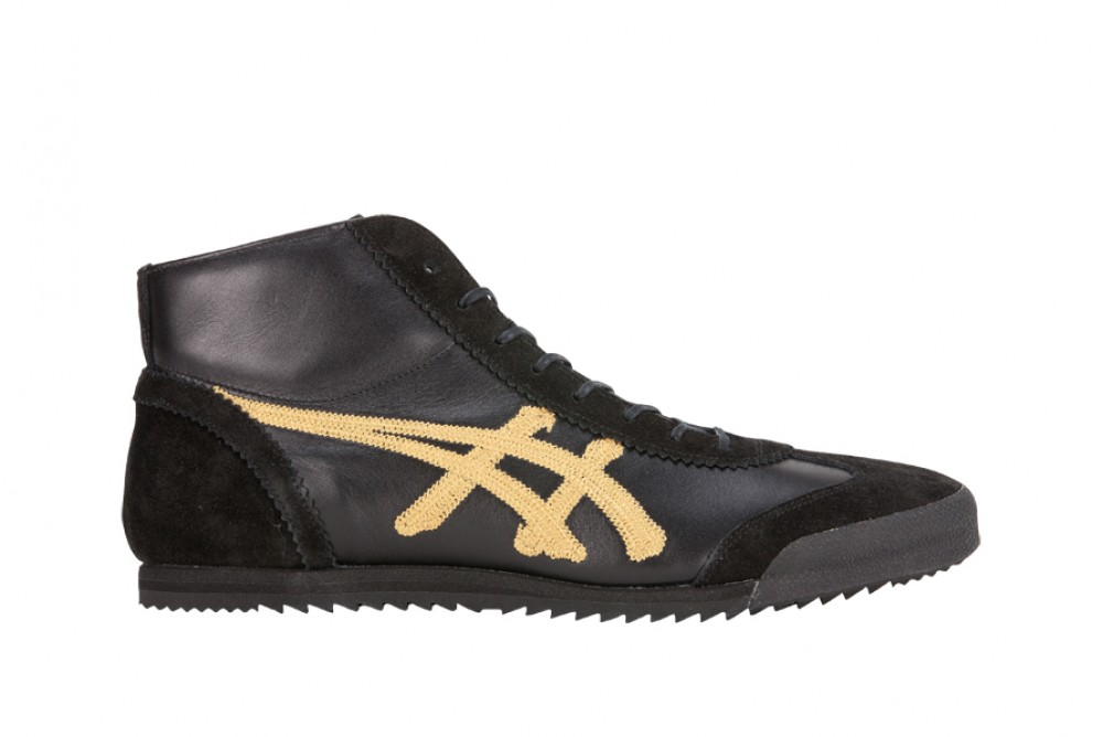 onitsuka tiger mexico 66 mid runner black quito