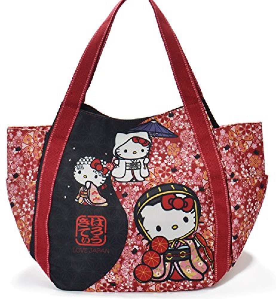 c1589fa5fcf5 Details about kimono Hello Kitty kawaii mother s tote bag Sanrio authentic  sakura 2