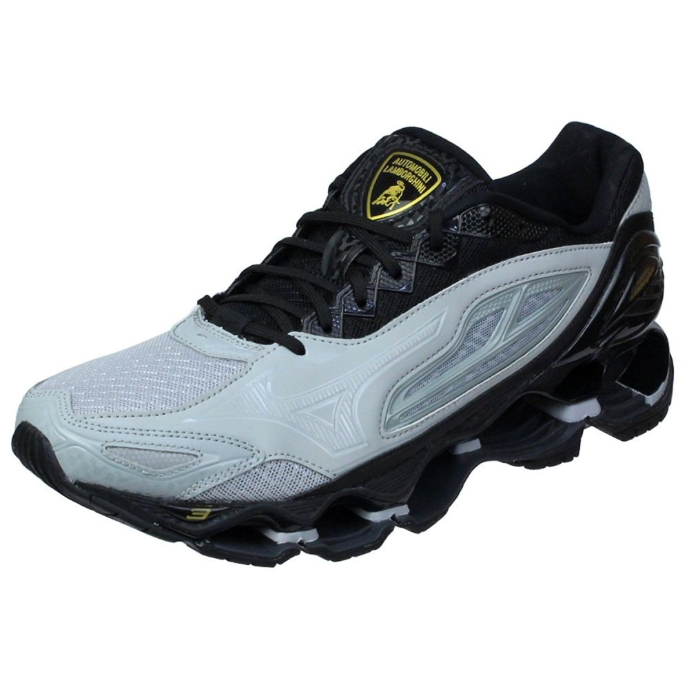 4174cae1645 Details about MIZUNO Running shoes Lamborghini collection WAVE TENJIN 3  J1GR1867 Gray × Black