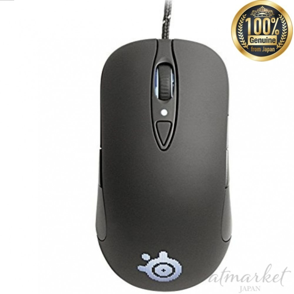 294ab417589 Details about Laser type gaming mouse SteelSeries SENSEI [RAW] Rubberized  Black 62155 JAPAN
