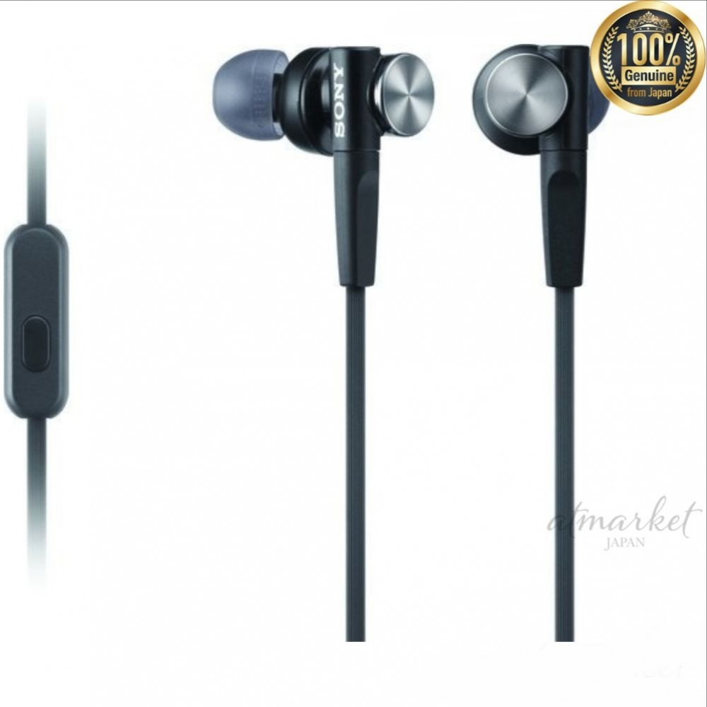 f5cd364897c Details about SONY Canal type earphone remote control with microphone Black  MDR-XB50AP-B JAPAN