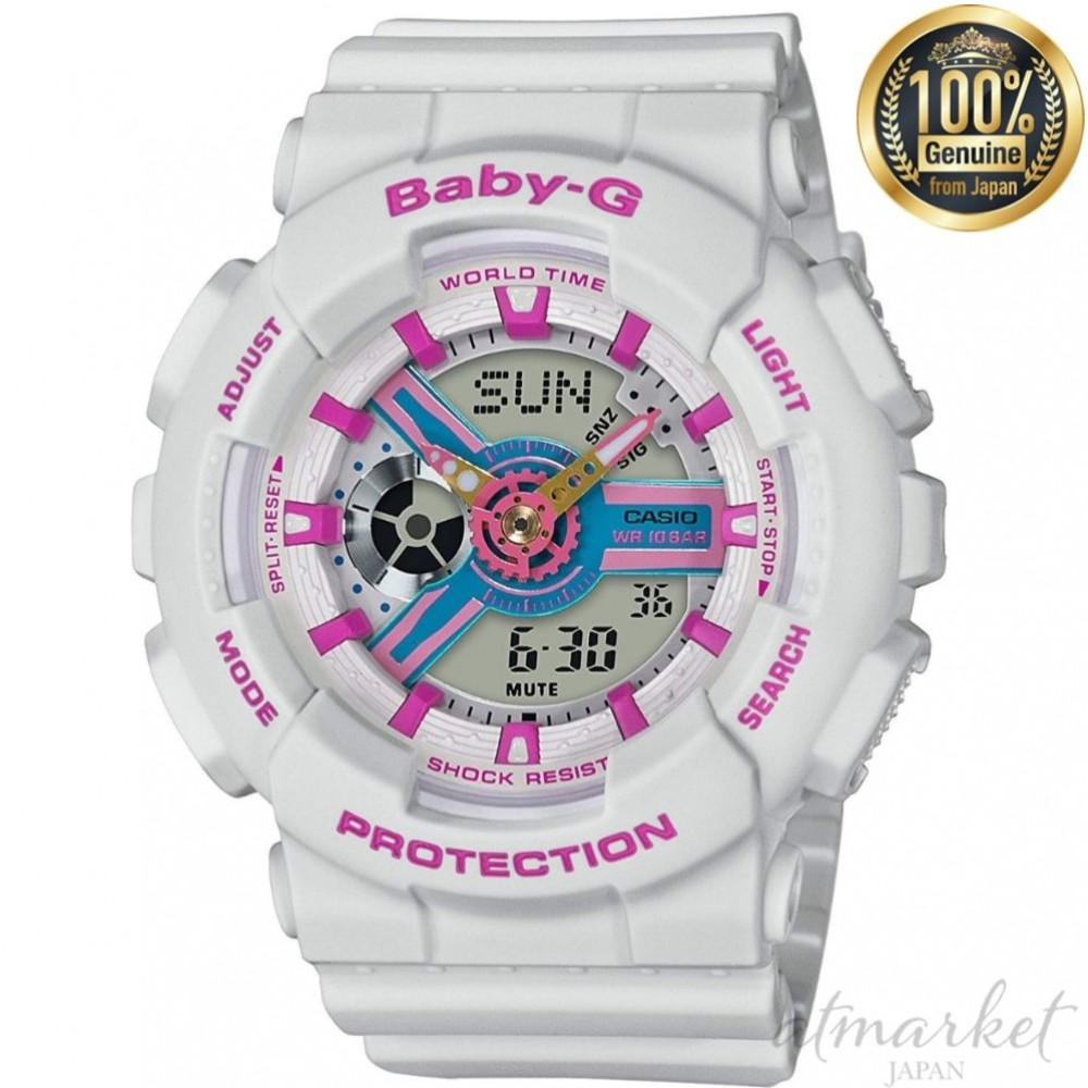 1e9fd22703 Details about CASIO Watch BABY-G WHITE / PINK BA-110NR-8AJF Women's in Box  genuine from JAPAN