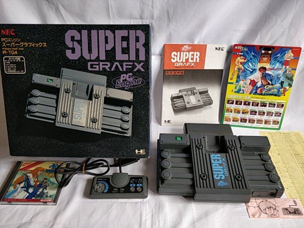 Details about NEC PC Engine SuperGrafx (TurboGrafx-16) Console,Pad and  Manual Boxed set-b212-