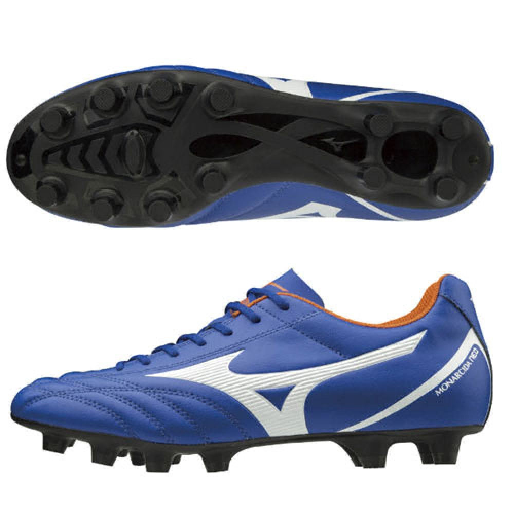 best sneakers e9cd1 89ca0 Details about MIZUNO soccer shoes Spike MONARCIDA NEO SELECT P1GA1925 Blue  × White