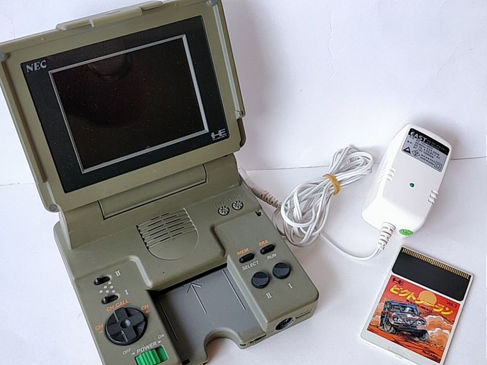 Details about NEC PC ENGINE LT (PI-TG9) CONSOLE,PSU(AC Adapter) and Game  set tested-b331-