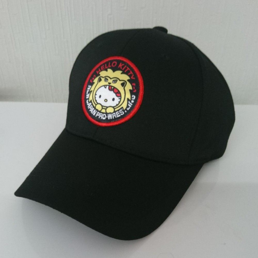 da1836ad1 Details about NJPW New Japan Pro Wrestling x Hello Kitty Black Cap Sanrio  Lottery Prize