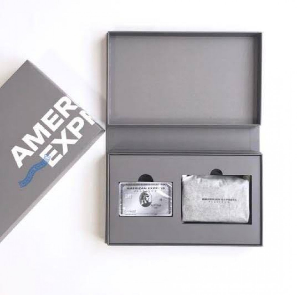 American Express Platinum Card Members Only Playing Cards /& Leather Card Case
