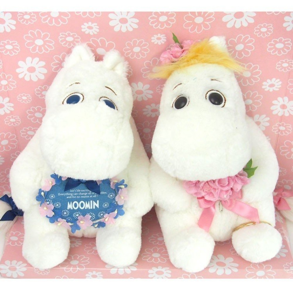Moomin Snork Maiden Plush set of 2 Flower version 8.3 inches JAPAN NEW
