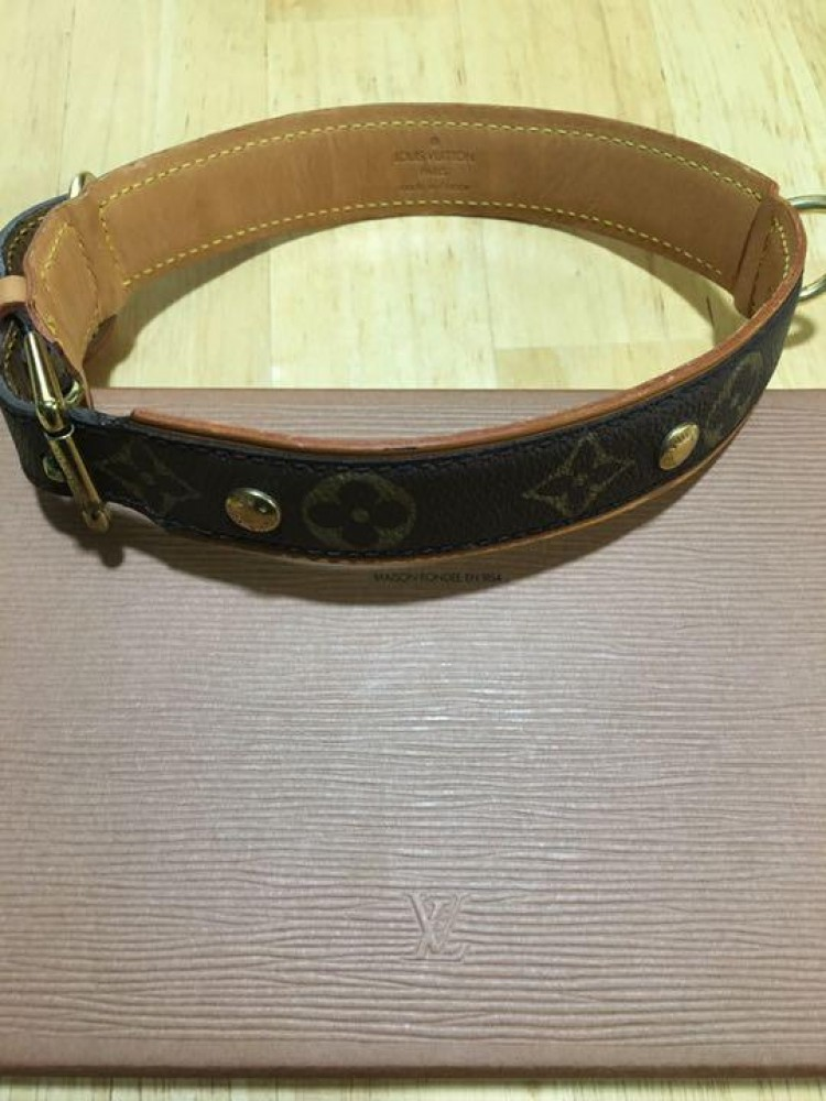 7b2c247f Details about Auth LOUIS VUITTON COLLIER BAXTER GM Collier Baxter GM  monogram Dog Collar 45-55
