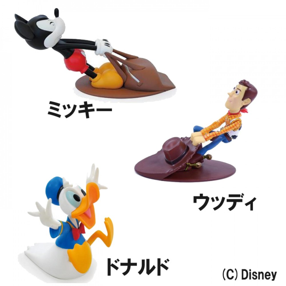 Donald Duck Cute item F//S Japan New Disney door stopper Woody Mickey Mouse