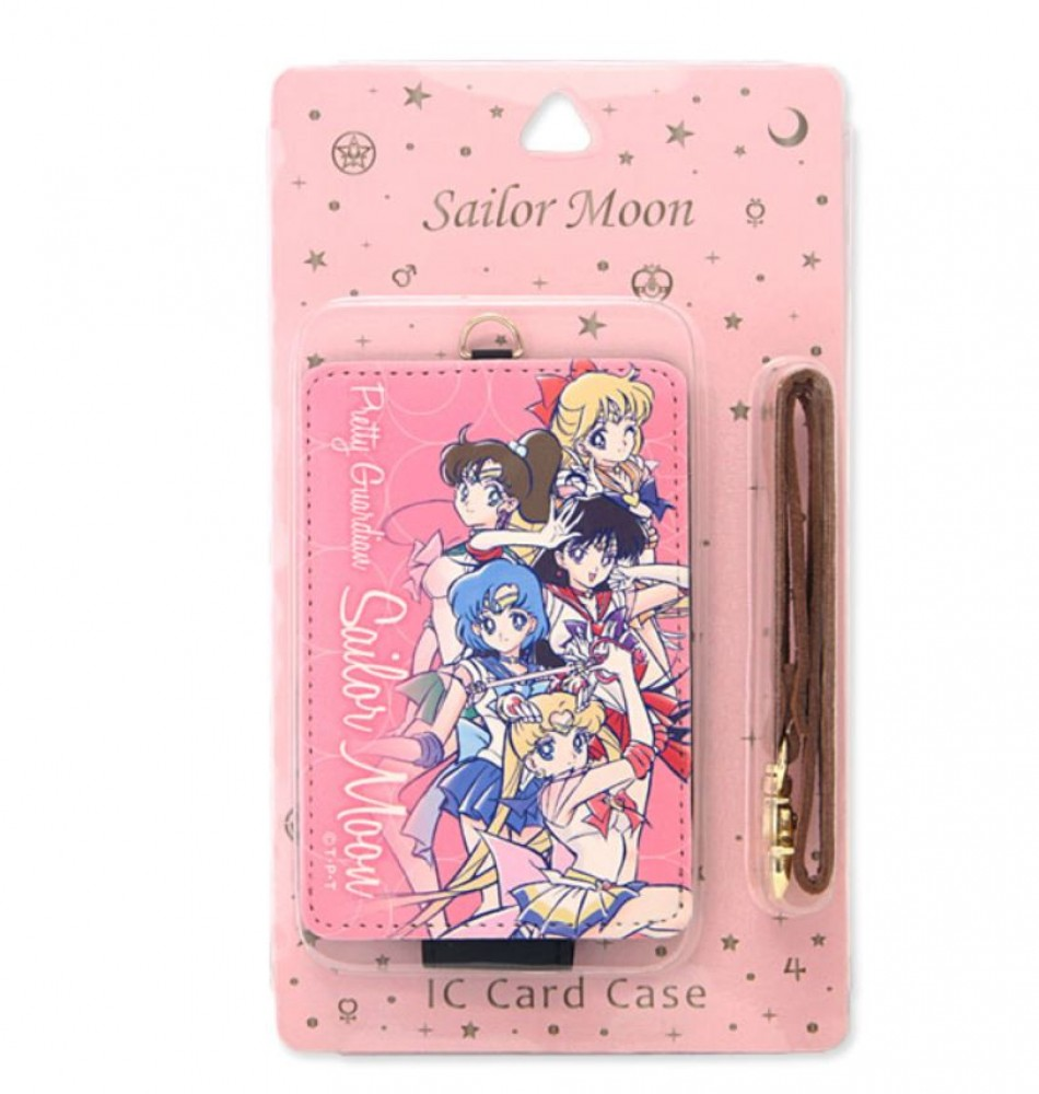 Pink Sailor Moon iC Card Case PU Leather Pass Case with Strap from Japan F//S